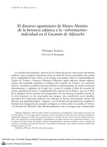 de la herencia adánica a la - Centro Virtual Cervantes