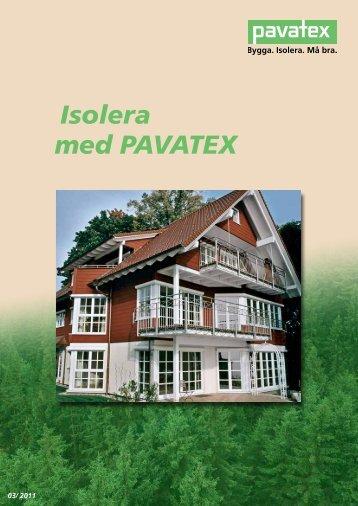Isolera med PAVATEX