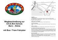 Wegbeschreibung zur S.K.E.M.A Schule Bern – Köniz mit Bus / Tram ...
