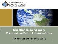 Prohibición de la Discriminación - Employment Law Alliance