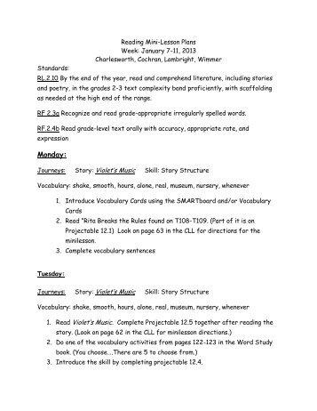 lesson plans Jan. 7