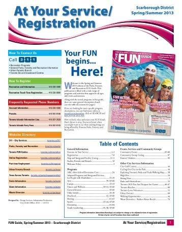 Toronto fun guide registration.