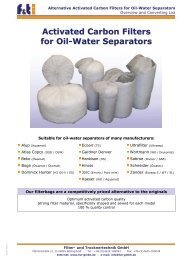 Activated Carbon Filters for Oil-Water Separators - Fut-GmbH