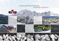 die Berge versetzen Leistungsfähige Produkte, - Gipo AG