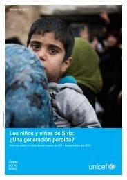 Los niños y niñas de Siria: ¿Una generación perdida?