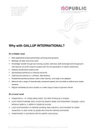 Why with GALLUP INTERNATIONAL? - ISOPUBLIC