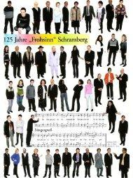 125 Jahre Frohsinn - Chorgemeinschaft Frohsinn Schramberg