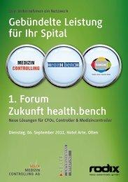 Anmeldung 1. Forum «Zukunft health.bench - Malk Medizin ...