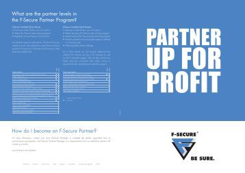 What are the partner levels in the F-Secure Partner Program? How ...