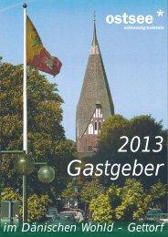 Gastgeberverzeichnis 2013 - Fremdenverkehrsverein Dänischer ...