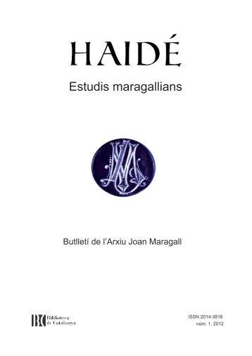 Maragall traduït - Biblioteca de Catalunya