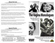 Vagina Monologues Program.ai - Laura Bestler