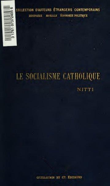 Le socialisme catholique ..