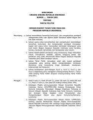 rancangan undang-undang republik indonesia nomor ... - ProPatria