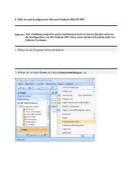 Anleitung zum Einrichten von Microsoft Outlook zum Abrufen