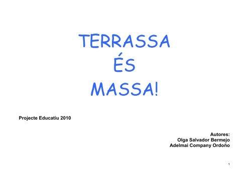 Justificació del projecte. - Ajuntament de Terrassa