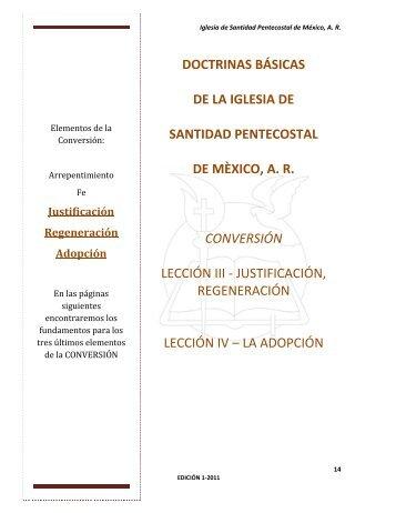 Leccion 3 y 4 - iglesia de santidad pentecostal de mexico