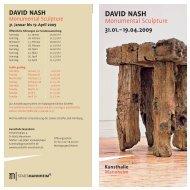 DAVID NASH - Galerie Scheffel