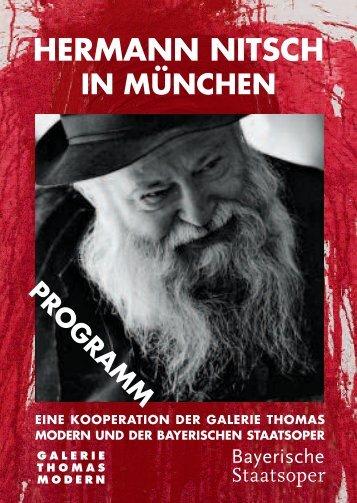 hermann nitsch in münchen - Galerie Thomas