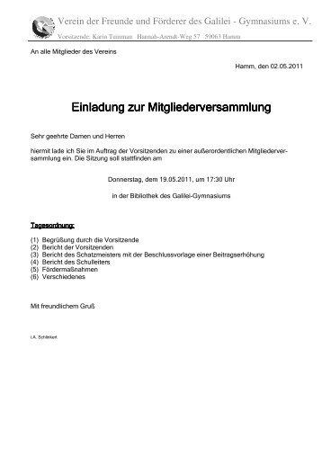 einladung zur kobe-mitgliederversammlung, Einladung