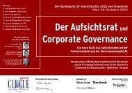 Der Aufsichtsrat und Corporate Governance - Gamma Capital Partners