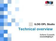 ILOG OPL Studio - Technical Overview - Gams