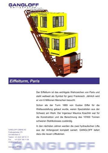 Eiffelturm, Paris - Gangloff AG