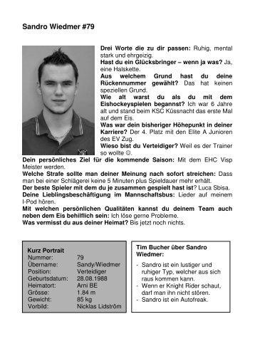 Sandro Wiedmer #79 - EHC Visp