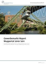 Gewerbemarktreport 2010/2011 - Stadt Wuppertal