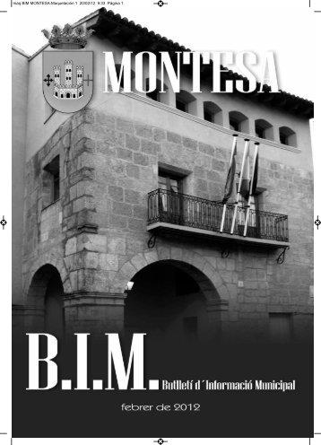 maq BIM MONTESA:Maquetación 1 20/02/12 9:33 Página 1