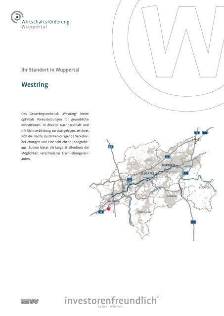 Flächensteckbrief Westring - Stadt Wuppertal
