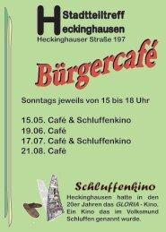 15.05. Café & Schluffenkino 19.06. Café 21.08 ... - Stadt Wuppertal
