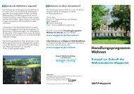 Flyer zum Handlungsprogramm Wohnen - Stadt Wuppertal