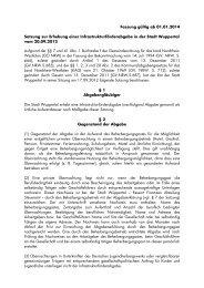 Infrastrukturförderabgabesatzung - Stadt Wuppertal