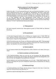 Gebührensatzung für den Rettungsdienst - Stadt Wuppertal