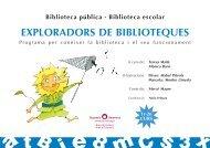 Exploradors de Biblioteques: fitxes alumnes de 1r i 2n curs de primària
