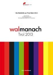 neuwal.com walmanach Tirol 2013 - Die Wahlhilfe