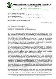 Regionalverband der Gartenfreunde Parchim e.V. - Kreisverband ...