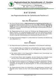 Satzung 2010 - Kreisverband der Gartenfreunde Parchim e.V.