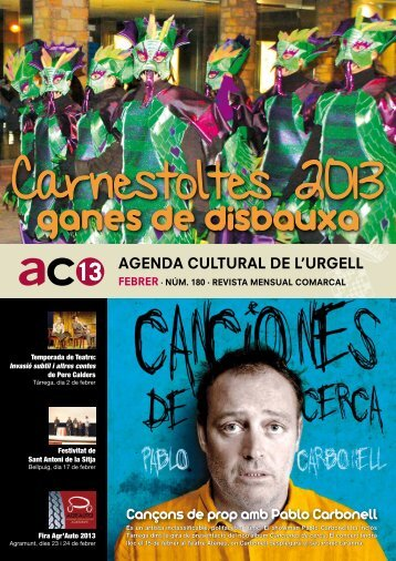Cançons de prop amb Pablo Carbonell - Ajuntament de Tàrrega