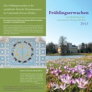 Frühlingserwachen - Kulturstiftung DessauWörlitz