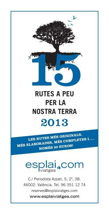 15RUTES A PEU PER LA NOSTRA TERRA - Esplai Viatges