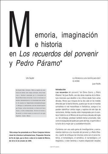 emoria, imaginación e historia en Los recuerdos del - Difusión ...