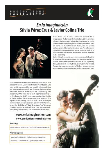 En la imaginación Sílvia Pérez Cruz & Javier Colina Trio