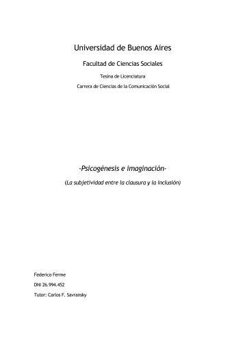 Carrera de Ciencias de la Comunicación - UBA - Universidad de ...