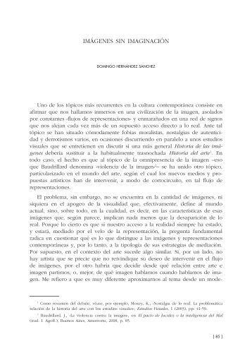 6. Imágenes sin imaginación, por Domingo Hernández Sánchez