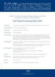 Die Funk Gruppe – Funk Hospital-Versicherungsmakler GmbH