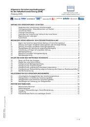 Allgemeine Versicherungsbedingungen für die ... - Funk Gruppe