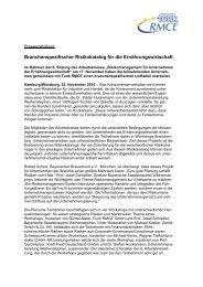 Branchenspezifischer Risikokatalog für die ... - Funk Gruppe