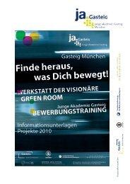 Page 1 Page 2 Die Junge Akademie Gasteig Kunst und Kultur sind ...